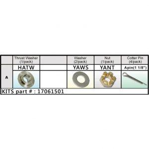 Solas Honda Nut Kit (17061501)